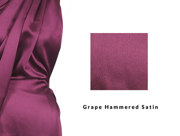 Grape Hammered Satin