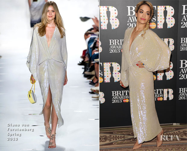 Rita Ora In Diane von Furstenberg - BRIT Awards Nominations Announcement