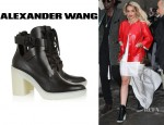 Rita Ora's Alexander Wang 'Jill' Lace-Up Leather Boots