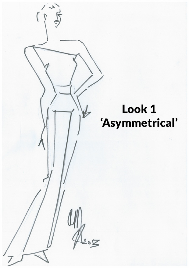 Look 1 - 'Asymmetrical'