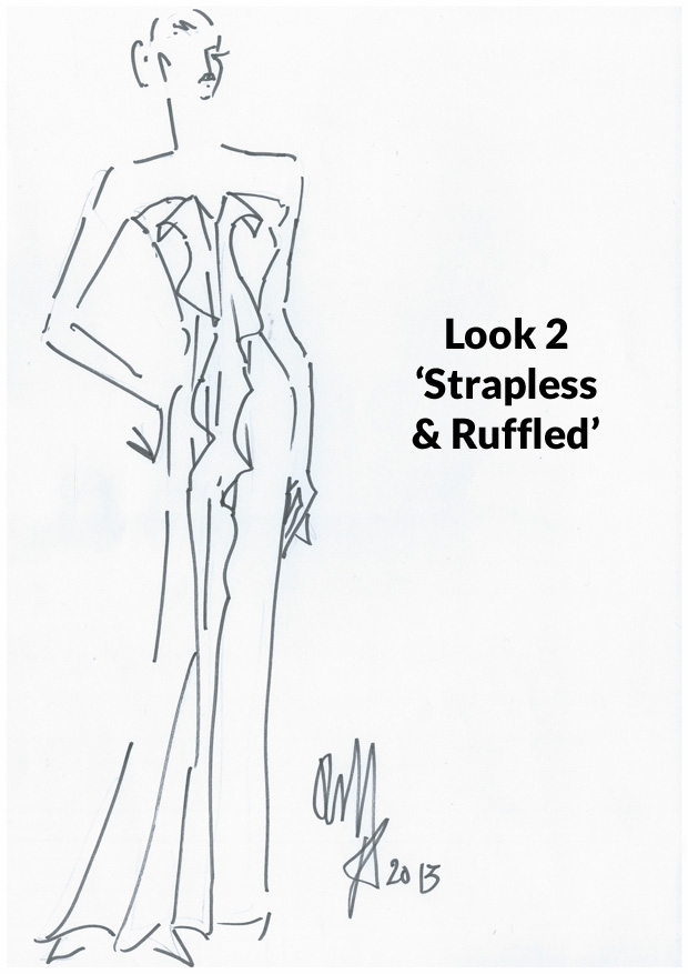Look 2 - 'Strapless & Ruffled