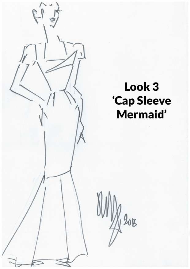 Look 3 - 'Cap Sleeve Mermaid'