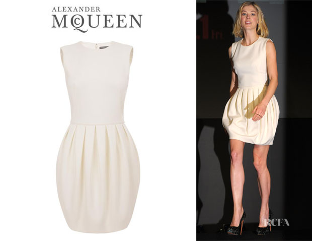 Rosamund Pike's Alexander McQueen Pod Mini Dress