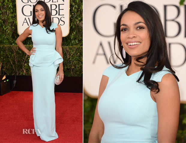 Rosario Dawson In Antonio Berardi - 2013 Golden Globe Awards
