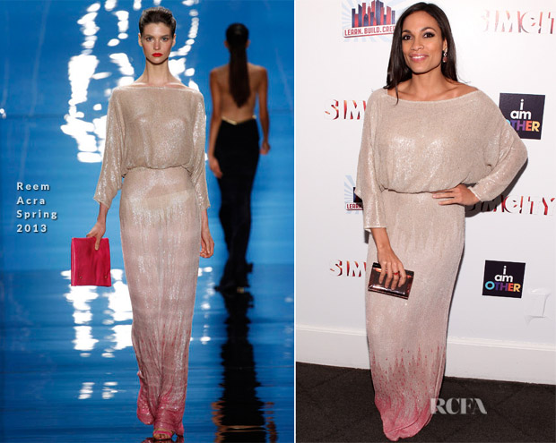 Rosario Dawson In Reem Acra - 2013 Learn Build Create Inaugural Celebration