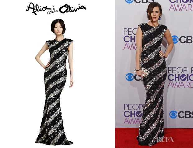 Rumer Willis' Alice + Olivia Sequin Stripe Gown
