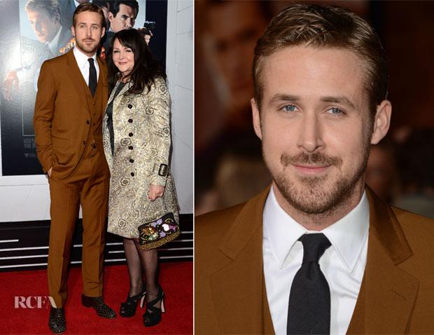 Ryan Gosling in Gucci - Gangster Squad LA Premiere
