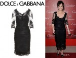 Sally Field's Dolce & Gabbana Ruched Lace Dress