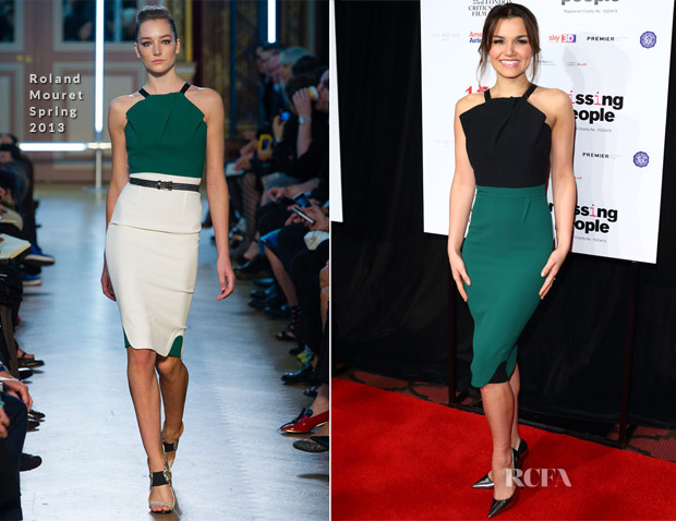 Samantha Barks In Roland Mouret - 2013 London Film Critics Circle Film Awards
