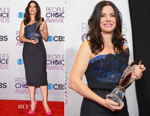 Sandra Bullock In Vera Wang - 2013 People's Choice Awards