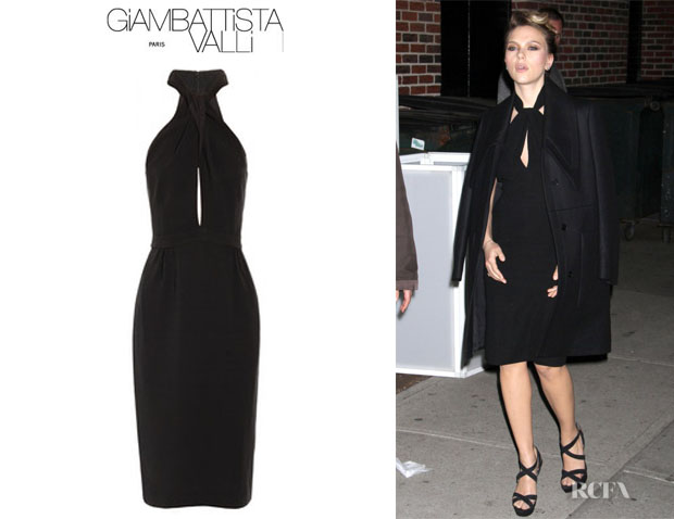 Scarlett Johansson's Giambattista Valli Twisted Crepe Dress