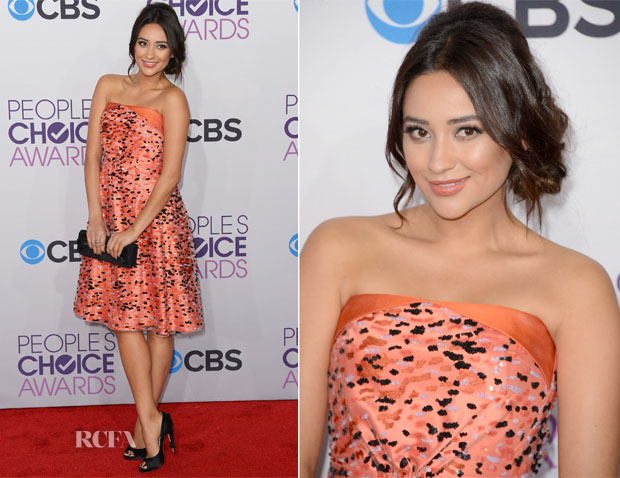 Shay Mitchell In Giorgio Armani - 2013 People's Choice Awards