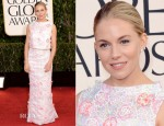 Sienna Miller In Erdem - 2013 Golden Globe Awards