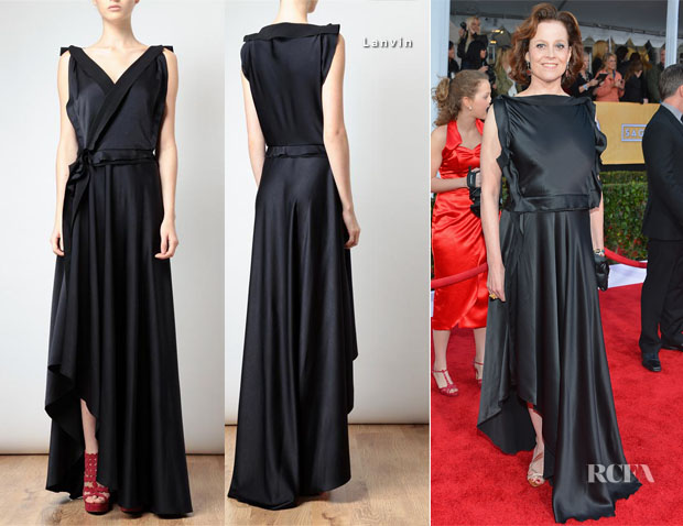 Sigourney Weaver Wore Her 2013 SAG Awards Lanvin Gown Back-To-Front