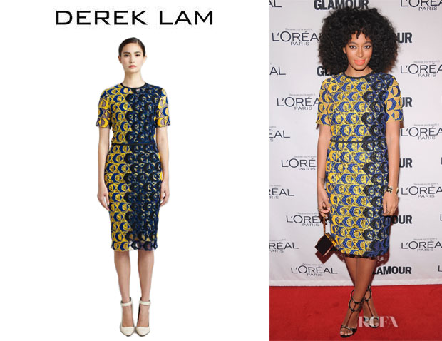 Solange Knowles' Derek Lam Guipure Lace Dress
