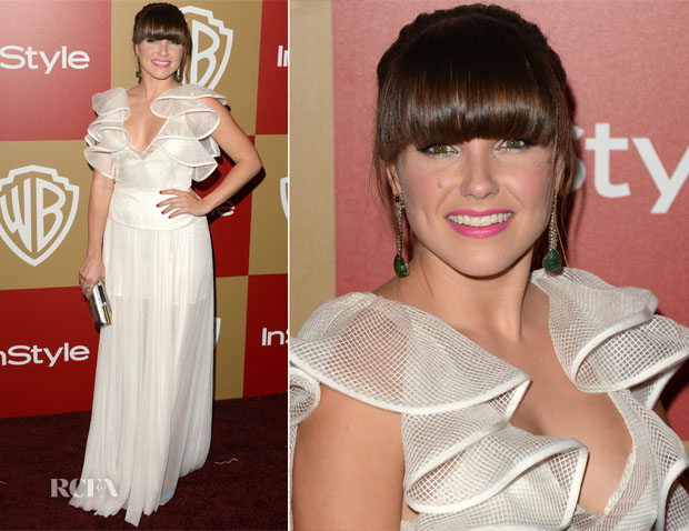 Sophia Bush In Lisa Ho - Warner Bros And InStyle Golden Globe Awards After Party