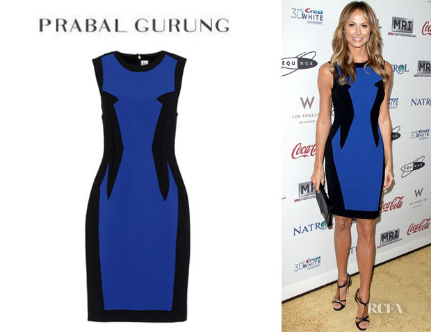 Stacy Keibler's Prabal Gurung Two Tone Dress
