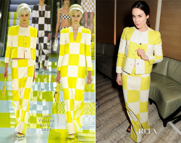 Tallulah Harlech In Louis Vuitton - BFC Vogue Designer Fashion Fund Winners Announcement