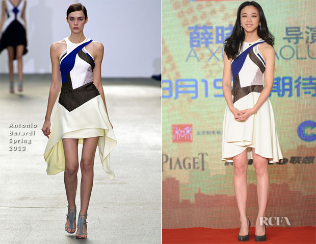Tang Wei In Antonio Berardi - 'Finding Mr Right' Press Conference