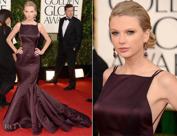 Taylor Swift In Donna Karan Atelier – 2013 Golden Globe Awards