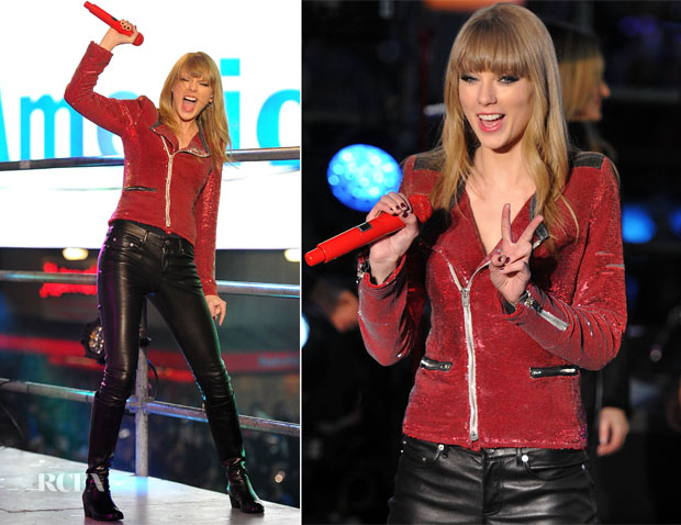 Taylor Swift In IRO - Dick Clark's New Year's Rockin' Eve with Ryan Seacrest 2013