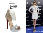Taylor Swift's Christian Louboutin 'Dufoura' Open-Toe Booties