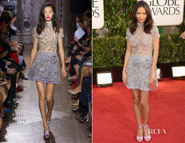 Thandie Newton In Giles - 2013 Golden Globe Awards