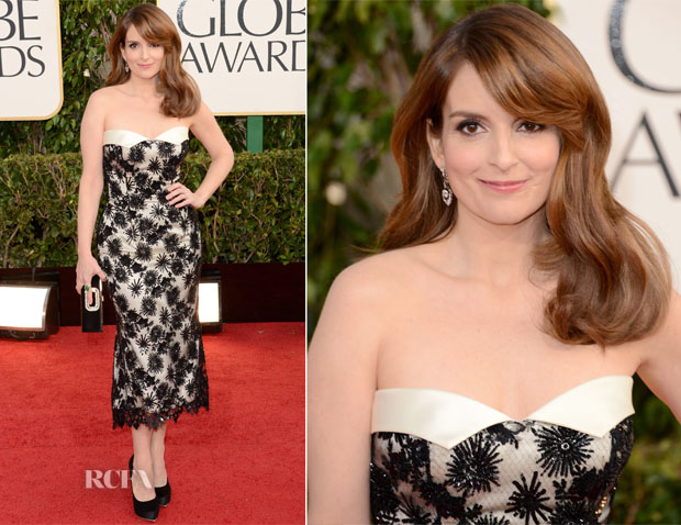Tina Fey In L Wren Scott - 2013 Golden Globe Awards
