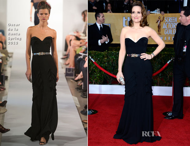 Tina Fey In Oscar de la Renta - 2013 SAG Awards