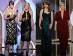 Tina Fey and Amy Poehler Host The Golden Globe Awards In L'Wren Scott & Stella McCartney