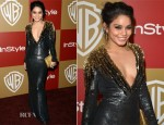 Vanessa Hudgens In Jenny Packham - Warner Bros. and InStyle Golden Globe Awards After Party