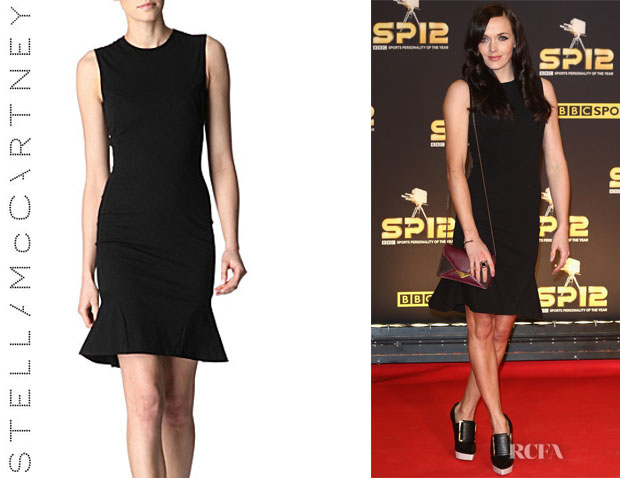 Victoria Pendleton's Stella McCartney Sleeveless Kicked-Hem Dress