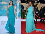 Viola Davis In Monique Lhuillier - 2013 SAG Awards