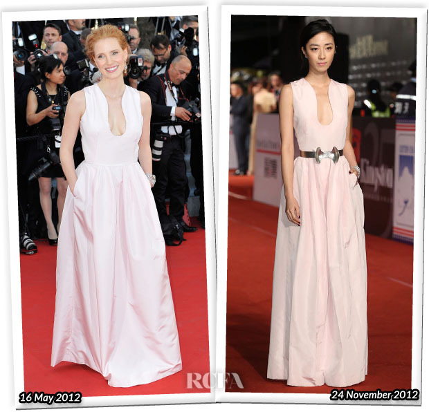 Who Wore Alexander McQueen Better Jessica Chastain or Gwei Lun-Mei