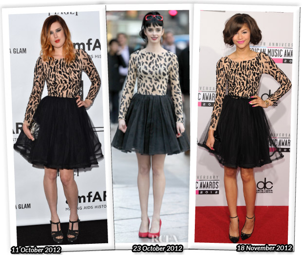 Who Wore Alice + Olivia Better Rumer Willis, Krysten Ritter or Zendaya Coleman