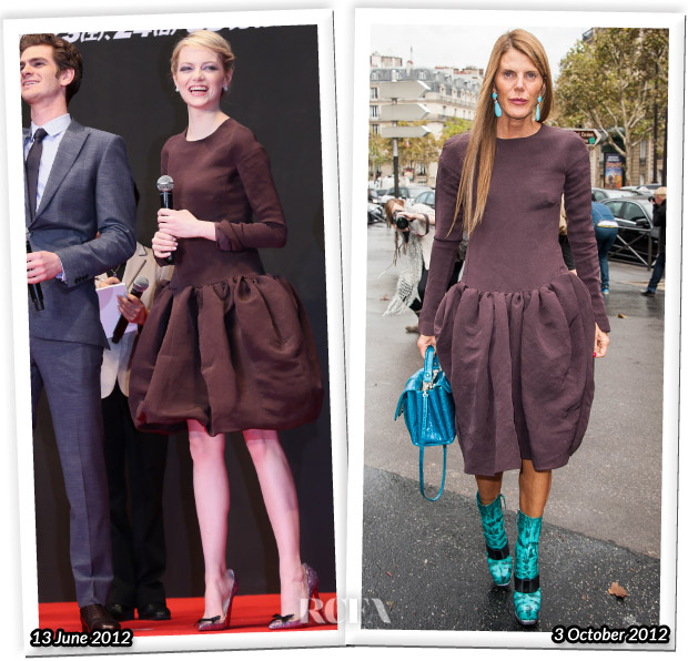 Who Wore Rochas Better Emma Stone or Anna Dello Russo