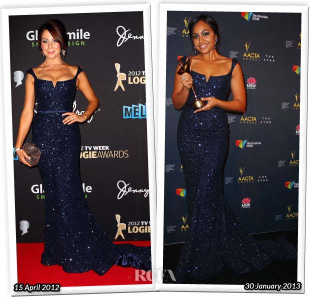 Who Wore Steven Khalil Better Kate Richie or Jessica Mauboy