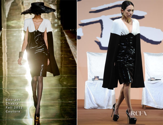 Zhang Ziyi In Georges Chakra Couture  - 'The Grandmasters' Beijing Press Conference