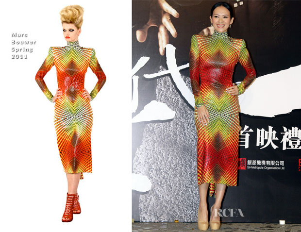 Zhang Ziyi In Marc Bouwer - 'The Grandmasters' Hong Kong Premiere