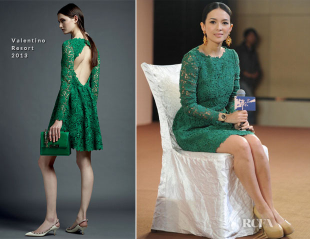 Zhang Ziyi In Valentino - 'The Grandmasters' Beijing Press Conference