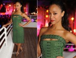 Zoe Saldana In Emilio Pucci - James Royal Palm Hotel