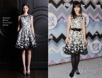 Zooey Deschanel In Naeem Khan - 2013 Winter TCA Tour