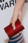 Freida Pinto's Judith Leiber clutch