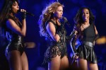 Kelly Rowland in Emilio Pucci, Beyonce Knowles in Rubin Singer and Michelle Williams in Rubin Singer