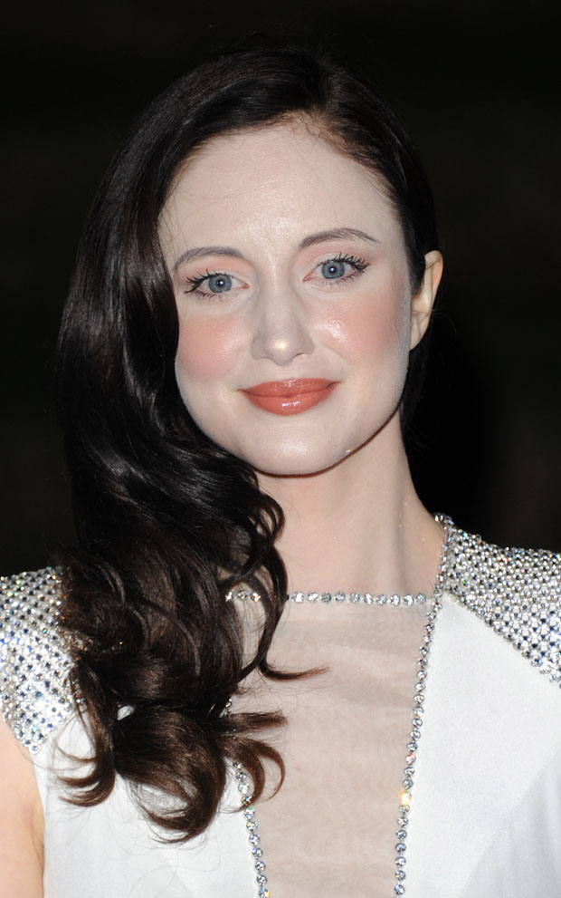 Andrea Riseborough in Jenny Packham