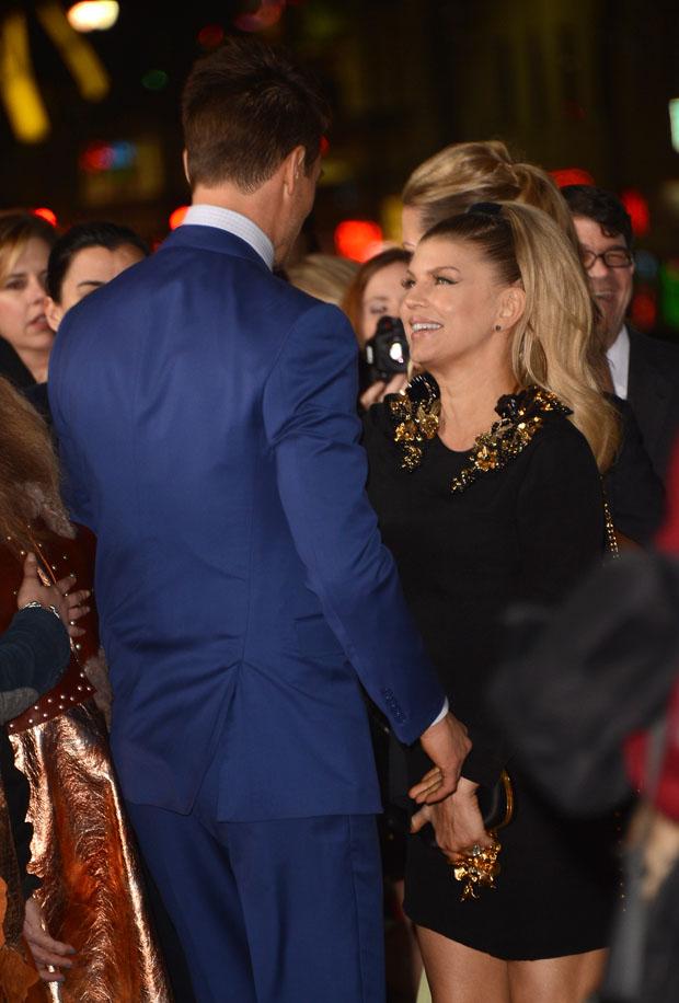 Josh Duhamel in Ralph Lauren and Fergie in Gucci