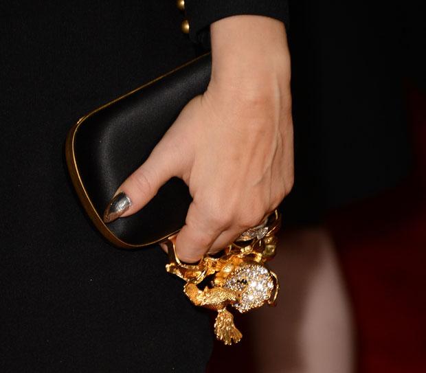 Fergie's Alexander McQueen clutch