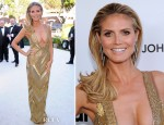 Heidi Klum In Julien Macdonald - 2013 Elton John AIDS Foundation Oscars Party