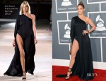 Jennifer Lopez In Anthony Vaccarello - 2013 Grammy Awards
