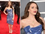 Kat Dennings In Vivienne Westwood - 2013 Grammy Awards